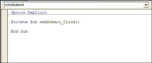 Command Buttons in Excel