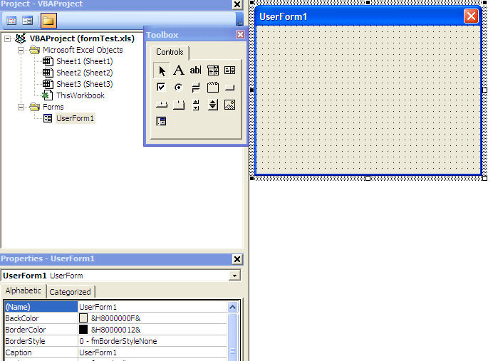 New userform in VBA