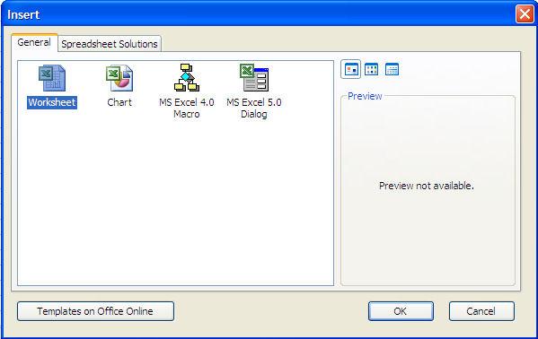 Excel-insert Sheet