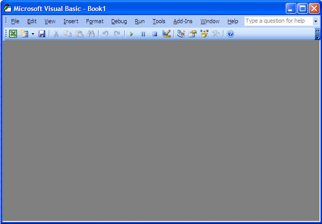 Visual Basic Editor in Excel